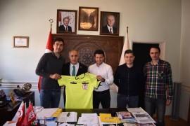 Davut Aydın'a Süper Lig hakemlerinden ziyaret