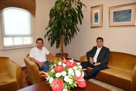 Binbaşı Bozkurt'tan Dündar'a vedâ ziyareti