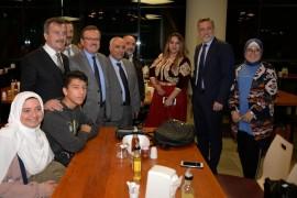 Bursa'nın misafir öğrencileri yöneticilerle bir araya geldi